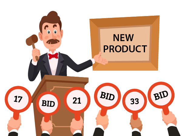 new product auction